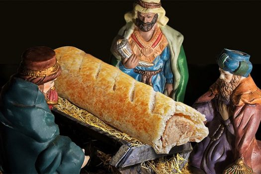Photo of the sausage roll nativity from Greggs