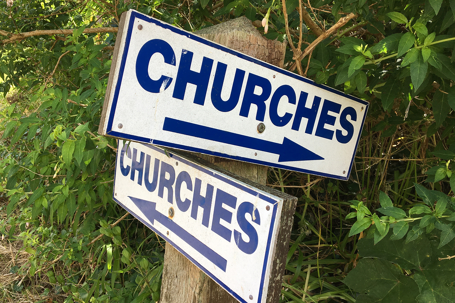Churches sign on Caldy Island