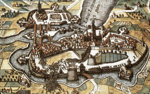 17th century map of Geneva