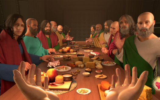 Last supper scene in the game I Am Jesus Christ