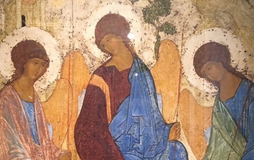 Icon of the Holy Trinity by Andrei Rublev