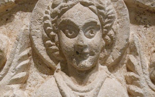 Carving of St Thecla