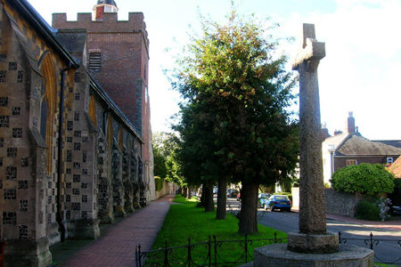 Southover Church, Lewes, East Sussex, England