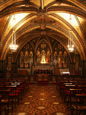 The Chapel of St Mary Undercroft, Palace of Westminster, London