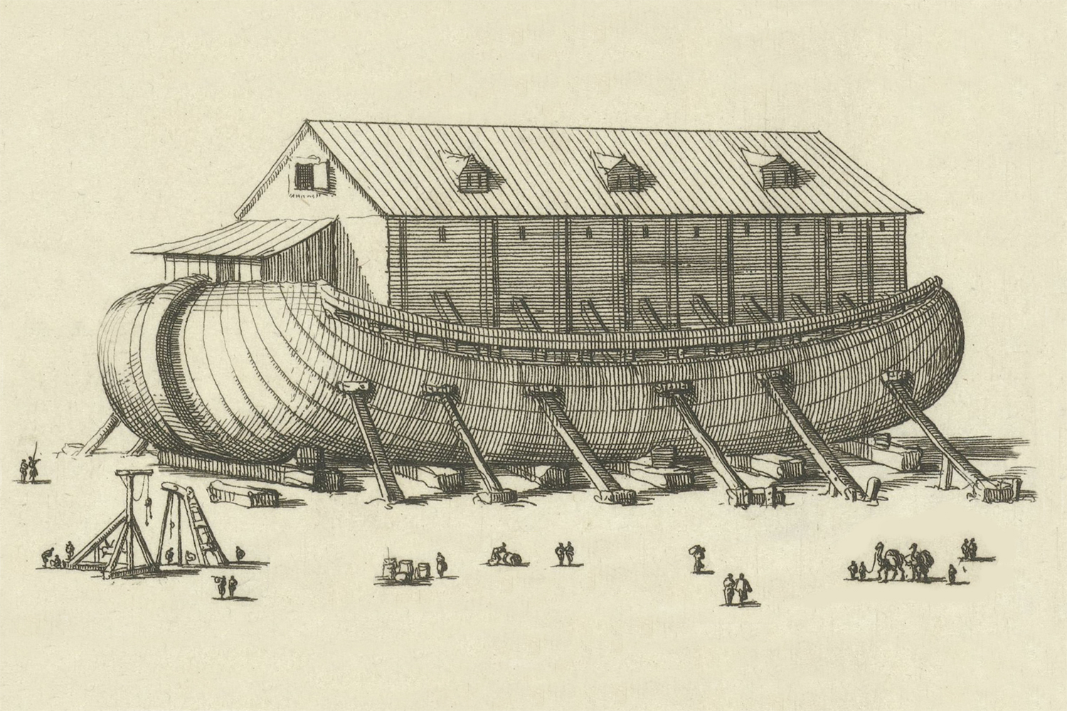 Engraving of Noah's Ark