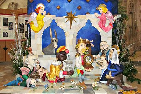 Photo of nativity scene in Gloucester