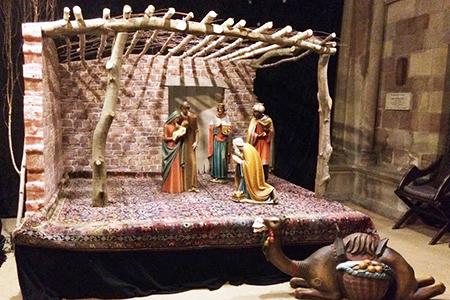 Photo of nativity scene in Lichfield