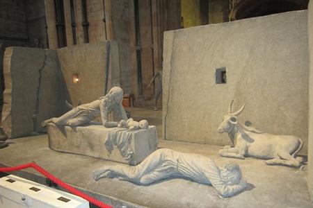 Photo of nativity scene in Lincoln