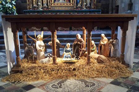 Photo of nativity scene in Oxford