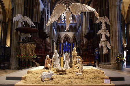 Photo of nativity scene in Salisbury