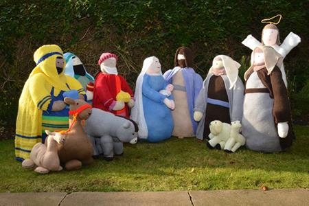 Photo of nativity scene in St Albans