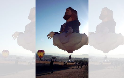 Photo of Jesus the hot air balloon